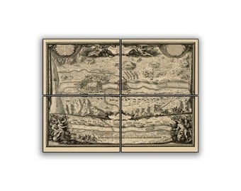 Bataille Du Terr Historic Battle Map on 11x8 PopMount Ready to Hang FREE SHIPPING