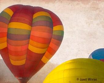 Surreal Hot Air Balloons, fine art photograph