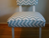 Midcentury Modern Chair - Light Blue Chair with Nailhead Trim - 60s Vintage Chair - Beach House Chic