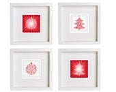 christmas ornaments set of four, red white, christmas tree, xmas ball, 8''x80'', free shipping, christmas 2013