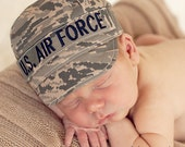 AIR FORCE ABU Infant Military Cap, Air Force Baby, Military Hat, newborn Air Force cap