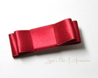 Satin Red hair bow
