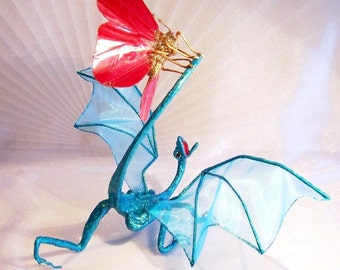 Dragon Attacked by Butterfly: Dragon Art Doll, Turk