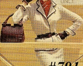 Vintage 1951 Vogue Two Piece Box Jacket Suit To Wear Straight or Belted In 791 PDF Digital Knit Pattern