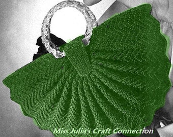 A BEST Vintage 1940s Elegant Cosmopolitan Handbag 267 PDF Digital Crochet Pattern