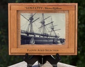 Upcycled Cigar Box with Fine Art Photograph of USS Constellation Ship in the Baltimore Harbor