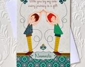 "Yoga Love Greeting Card, greeting card, yoga card, 5 x 7"""