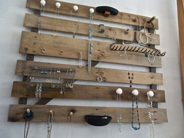 Oak Pallet Jewelry Board By Cre8iveconcrete On Etsy