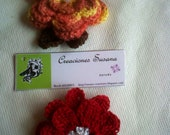 Floral broch, Flower decoration to scarf and shwal, crochet flower broch