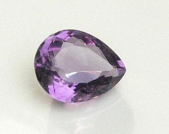 12.19 Carat - Pear Shaped Amethyst Gemstone - AA Qualtiy -Deep Purple Amethyst