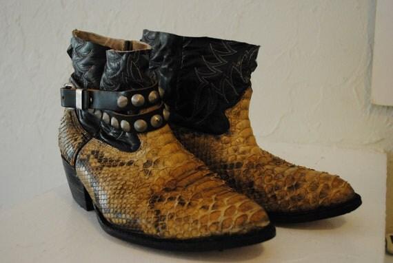 SALE VINTAGE 70s outlaw motorcycle snake skin snakeskin cowboy