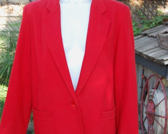 "Red Wool Lined Blazer by ""Dumas"""
