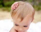 The Giselle - Felt Pom Pom Flower Hair Clip