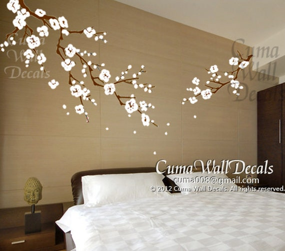 cherry blossom wall decals nursery white flower vinyl wall 17 best ideas about tree wall decor on pinterest family