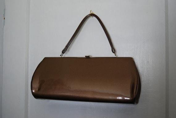 Vintage Brown Clutch Handbag
