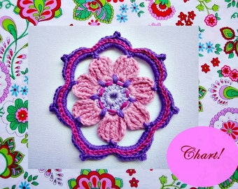 Camille  Crochet Flower Pattern