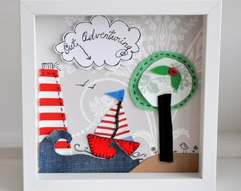 Made to order- nautical - personalised seascape