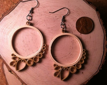 Ivory Petal Quilled Earrings