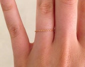 14k GOLD FILLED tiny chain ring