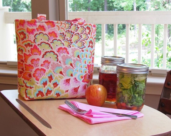 Jars to Go Bag - designer fabric mason jar lunch bag