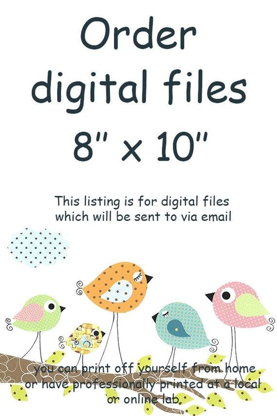 "ALL my prints, DIGITAL file, Art for Children , Kids Wall Art, Baby Girl Room Decor, 8"" x 10"", DIGITAL image"