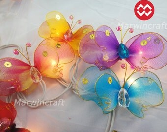 20 Butterfly Bug Multi Colour Fairy String Lights Party Patio Wedding Floor Table Hanging Wall Gift Home Decor Living Bedroom Holiday Night
