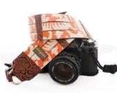 Marigold Designer Laminated Cotton DSLR Camera Strap with Quick Release Buckles