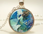 Mermaid Necklace, Fantasy Pendant, Henry O'Hara Clive (1036S1IN) - rainnua