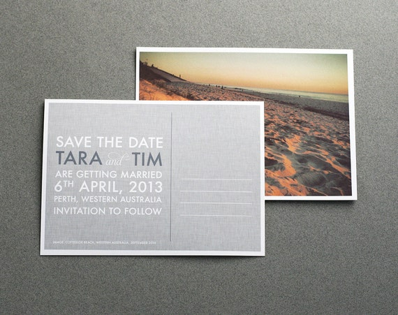 Save the Date Postcard Custom Modern