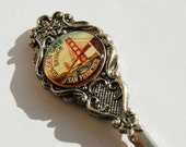 Vintage Golden Gate Bridge silver plated Cameo Perfection souvenir spoon - nancyplage