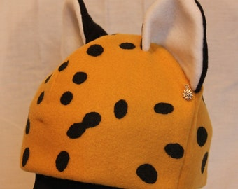 Leopard Hat - GOLD & BLACK