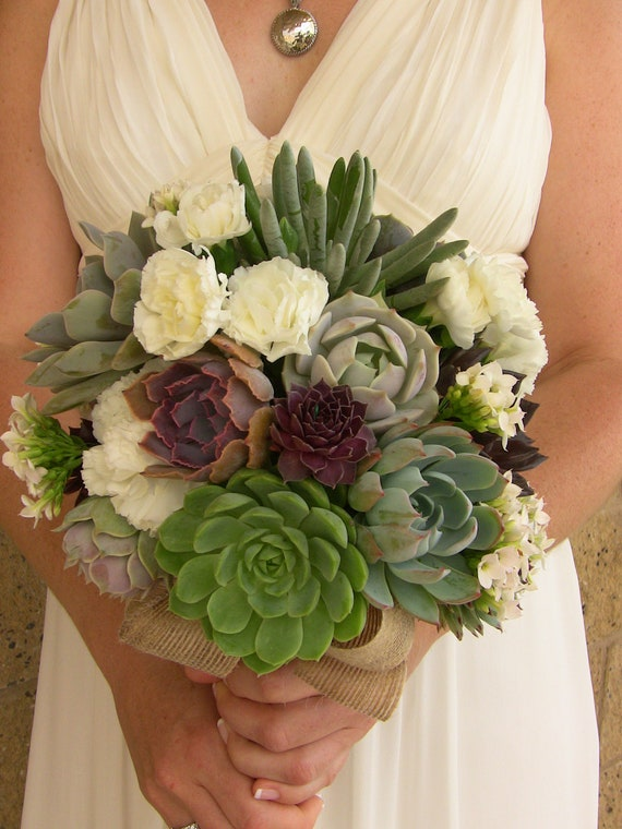wedding bouquets with succulents items similar to wedding succulent bouquet succulent 8545
