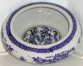 Dragonware Bowl Blue and White