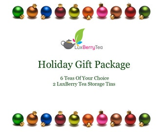 Tea Gift Package - 6 Teas, 2 Tins