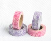 Purple or Red Floral Washi  Tape Scrapbooking Deco Tape Japanese