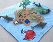 Travel Play Mat, Pirate Play Mat, Baby Boy play Mat - MelsCreativeWishes
