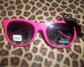 Mustache Sunglasses Pink With Black Mustache Charm