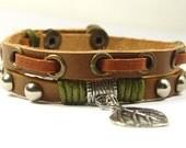 Charm Bracelet Leather Bracelet Bangle Bracelet Pendant Bracelet