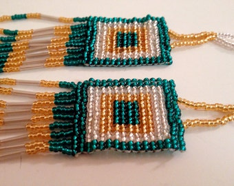 Golden South African Beaded Beauty Necklace