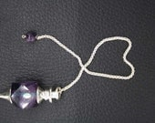 New Healing Amethyst Faceted 8 Cut Pendulum With Amethyst Pagan ET A12/6