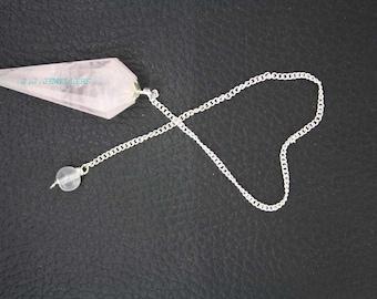 New Healing Rose Quartz pendulum With Crystal Pagan ET A4/4