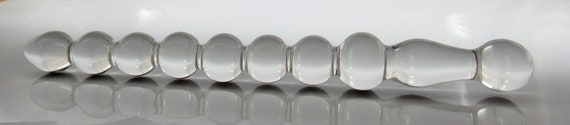 Small Glass Anal Bead Cane Dildo Sex Toy MATURE