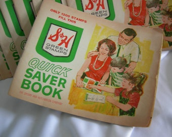 Nine S&H Green Stamp Books - Vintage 1950 - 1960