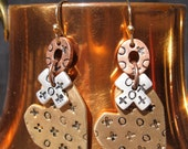 1990s XO Heart Earrings
