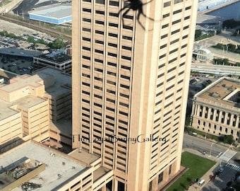Gigantic Spider Descending the Cleveland Justice Center Photo Series JPG Files or Fine Art Prints