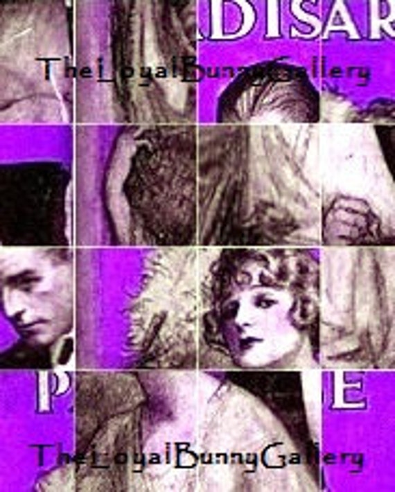 Fitzgerald's This Side of Paradise Vintage Book Cover Purple Scramble Collage
