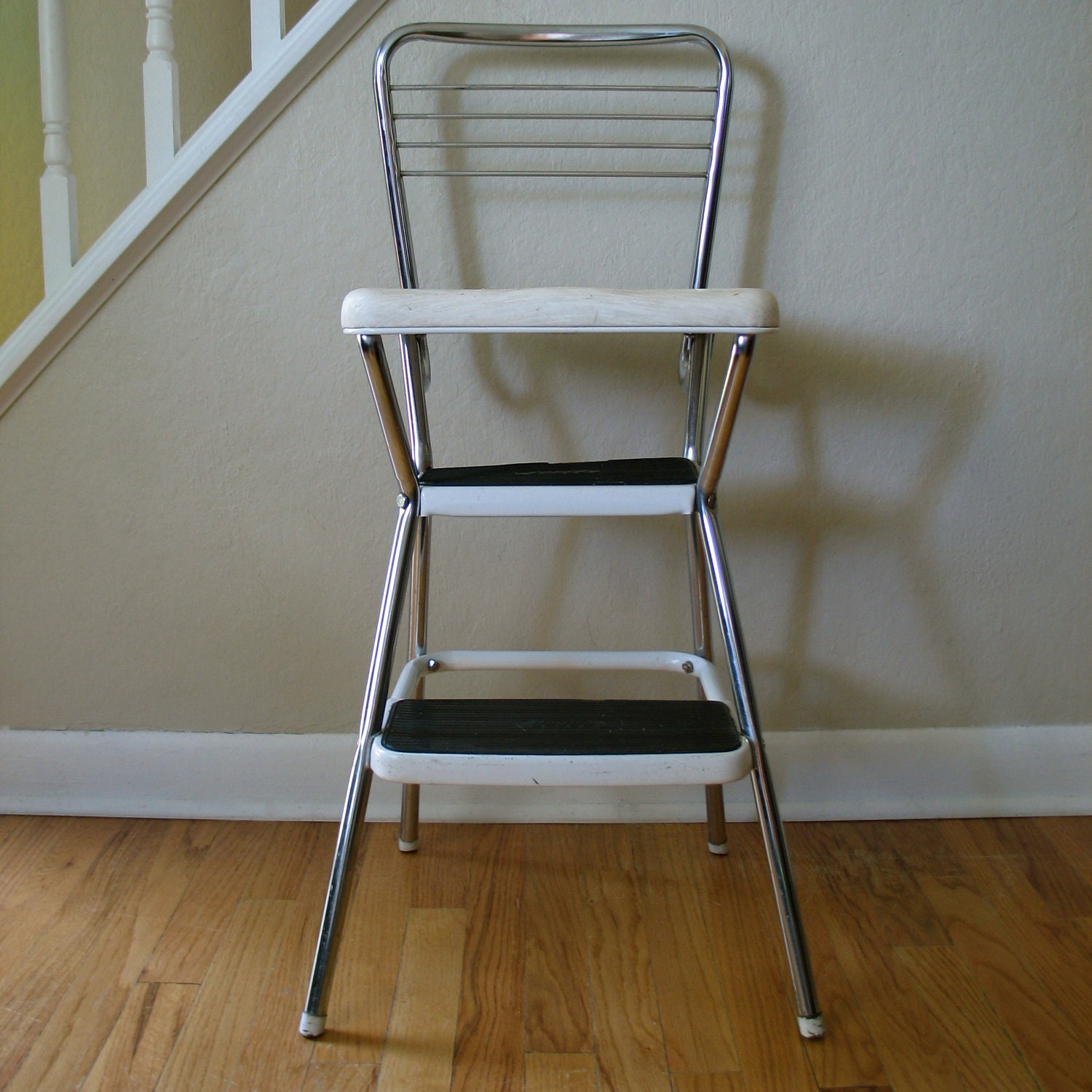 Vintage cosco chair step stool for Stool chair