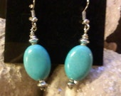 Magnesite dangle earrings