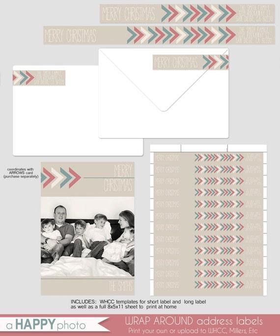 arrows wrap around address label whcc template address label. Black Bedroom Furniture Sets. Home Design Ideas