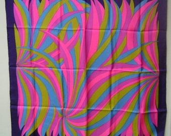 Large Silk Designer Scarf - signed Cabacchi Moyano Excellent Condition